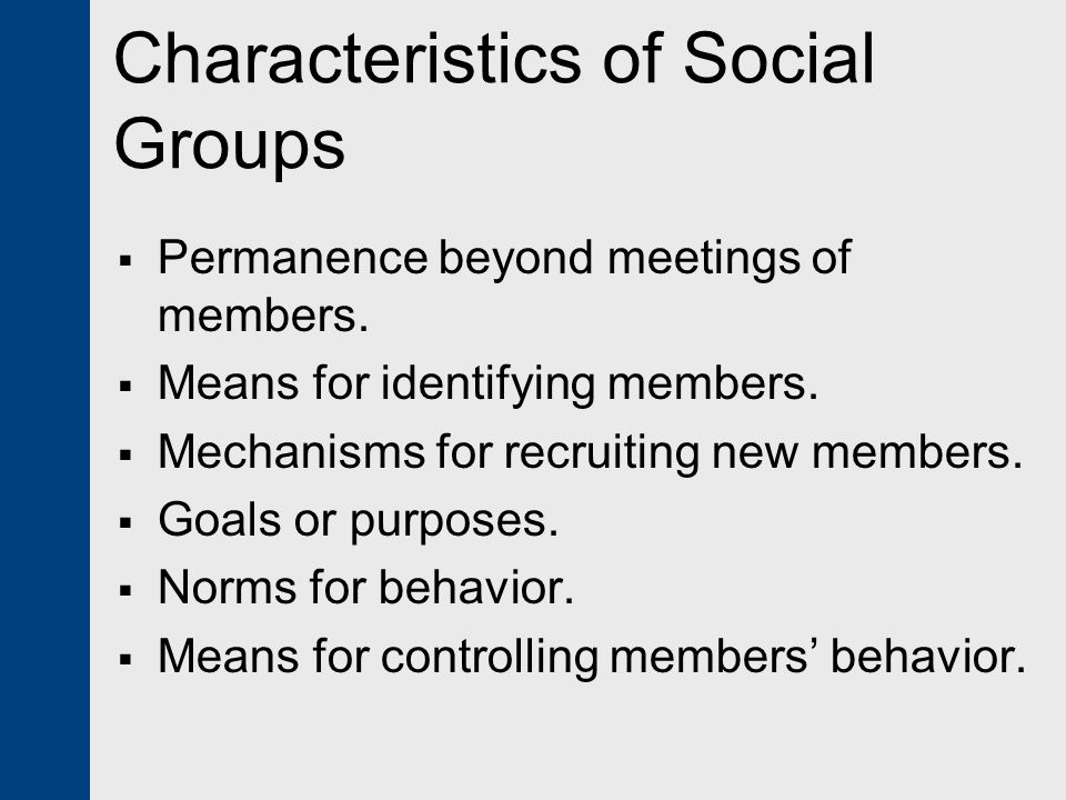 Characteristics of Social Groups