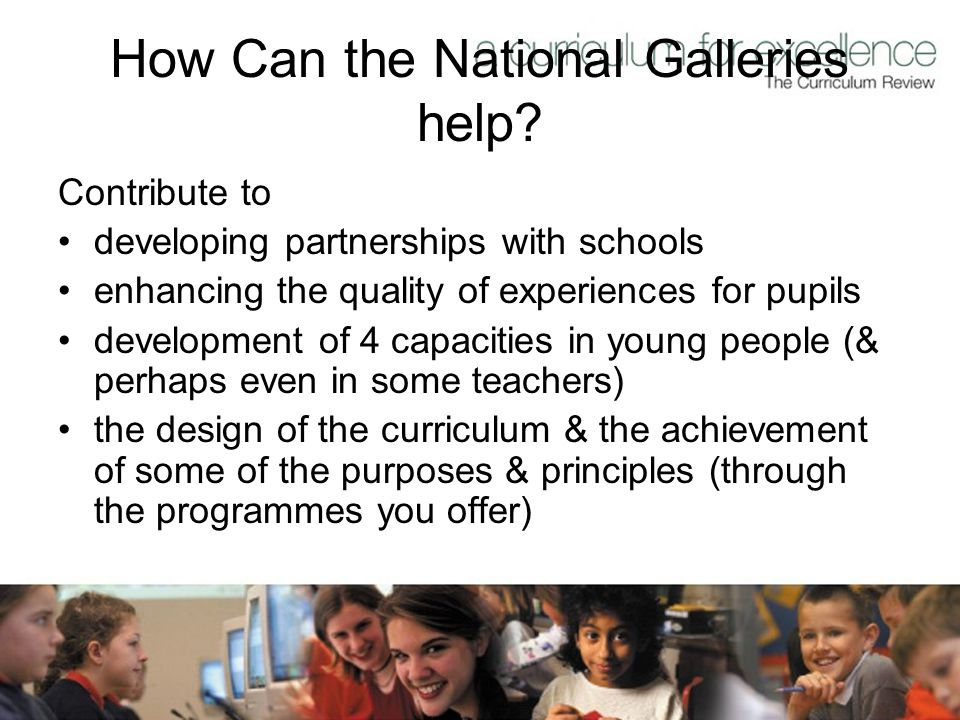 How Can the National Galleries help