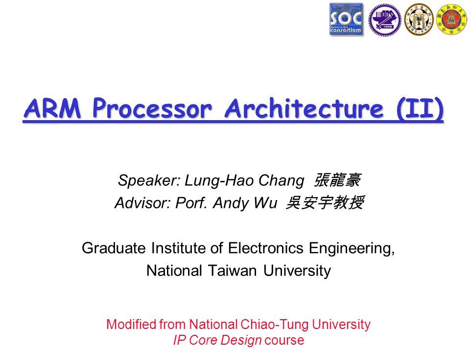 Arm Processor Architecture Ii Ppt Download