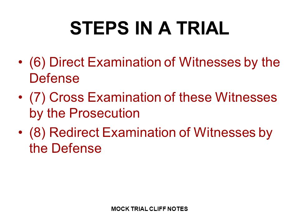 LAW 1 MOCK TRIAL CLIFF NOTES MOCK TRIAL CLIFF NOTES. - ppt video ...