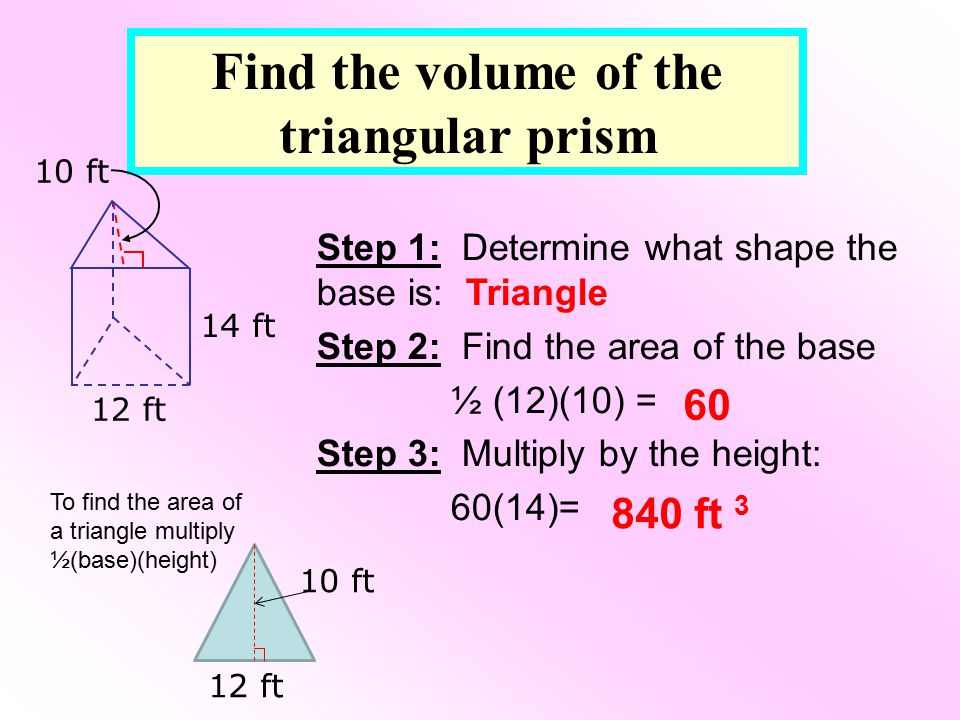 Find the volume of the triangular prism