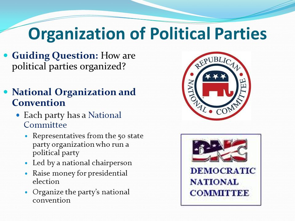 political parties chapter ppt video online download rh slideplayer com Party Organization App Cartoon Political Party Organization