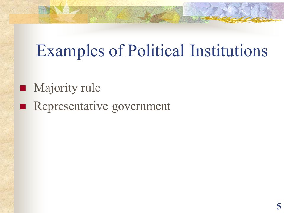 Examples of Political Institutions