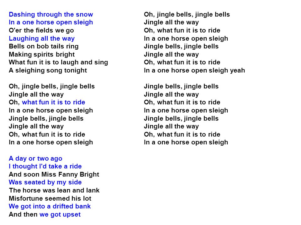 jingle bell jingle all the way