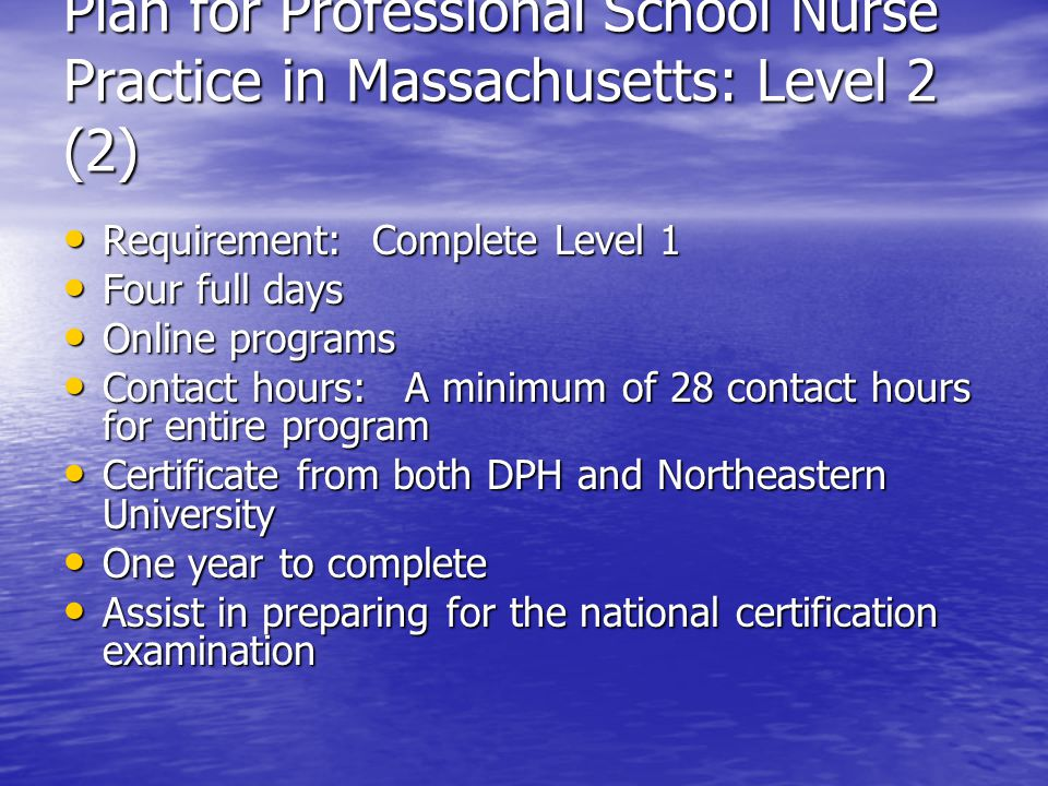 Professional School Nursing In Massachusetts Ppt Video Online Download
