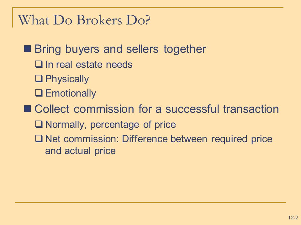 Brokers And Sellers >> Real Estate Brokerage And Listing Contracts Ppt Video