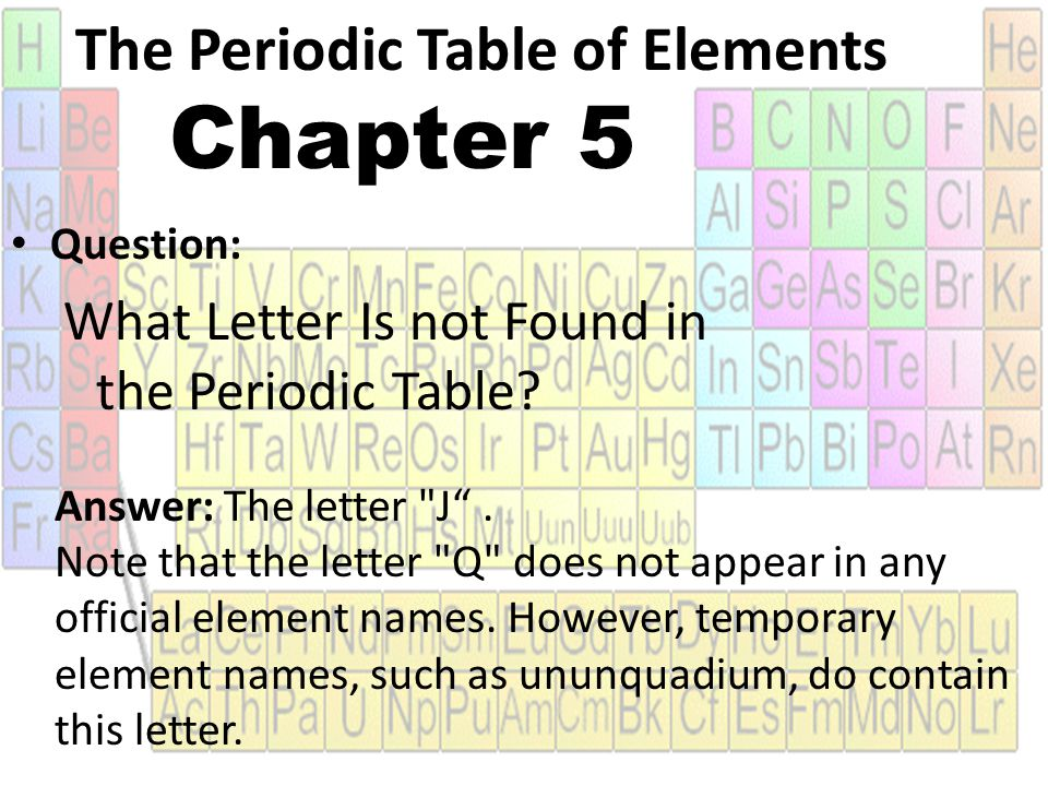 Chapter 5 the periodic table ppt video online download the periodic table of elements chapter 5 urtaz Image collections