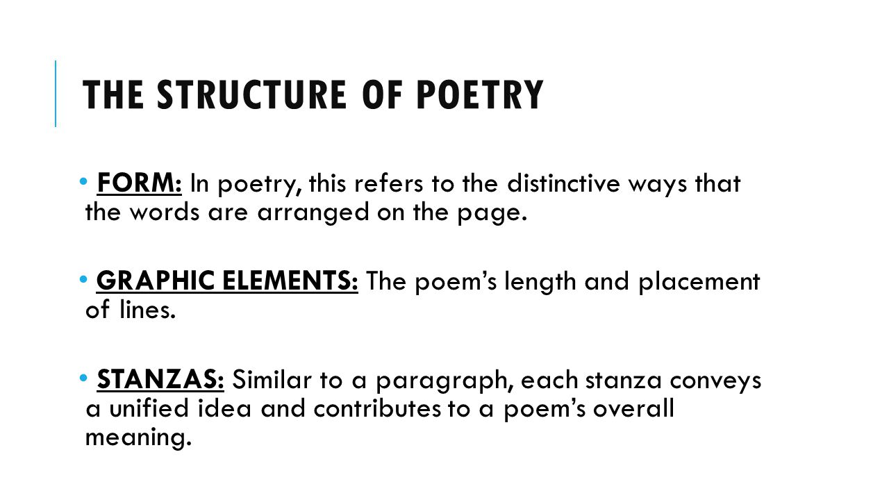 The structure of poetry