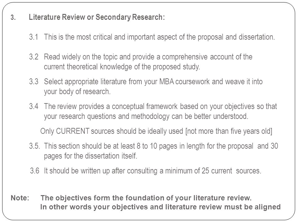 3. Literature Review or Secondary Research: 3