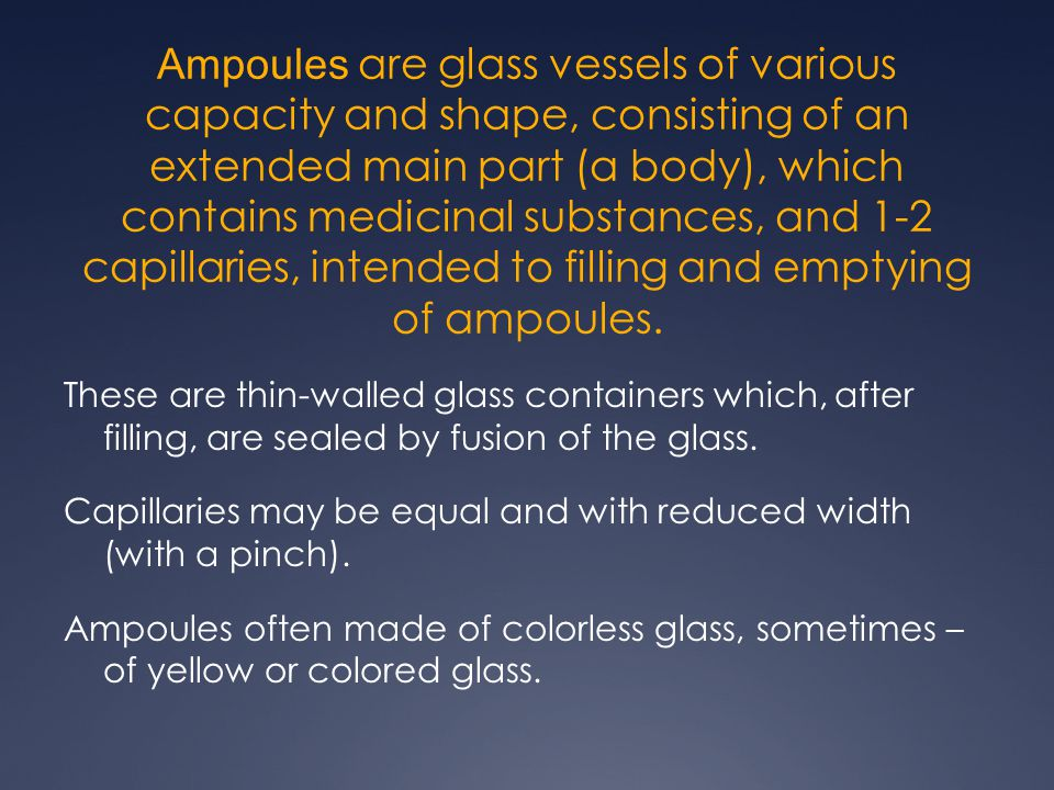 Parenteral drugs in ampoules  Ampoules glass  - ppt download
