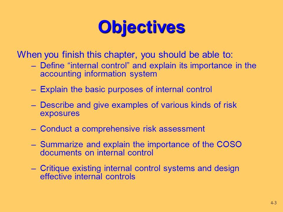 Objectives When you finish this chapter, you should be able to: