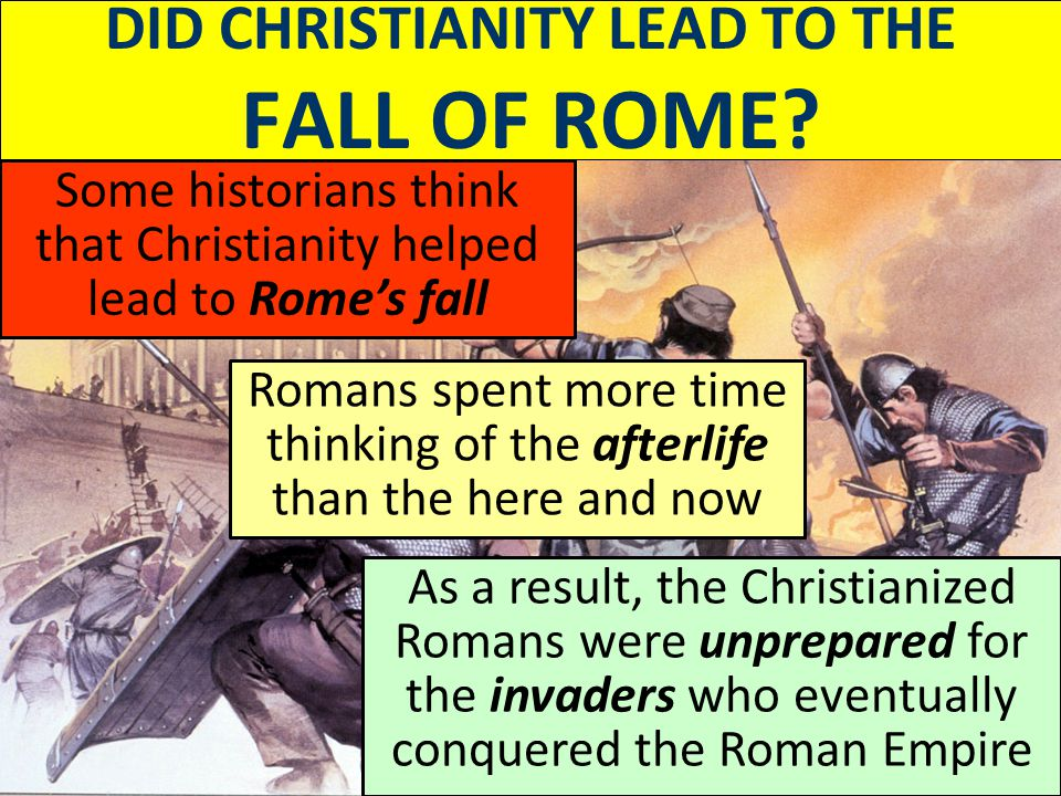christianity and the fall of rome