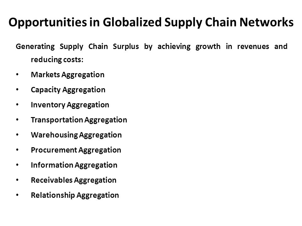 emerging supply chain risks of globalization