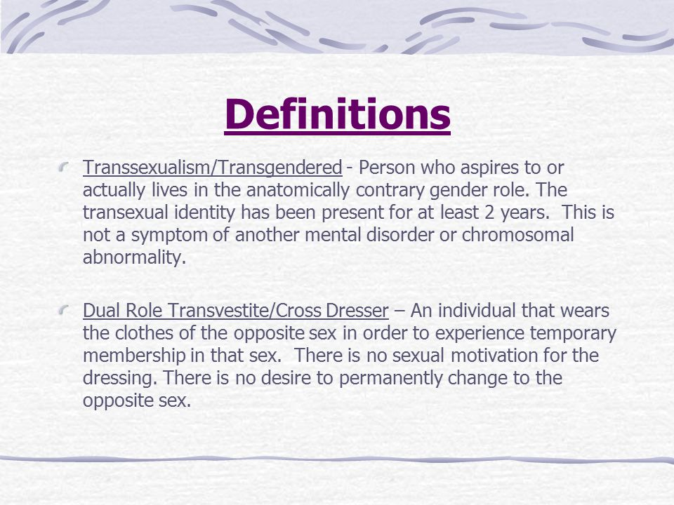 Transsexual definition