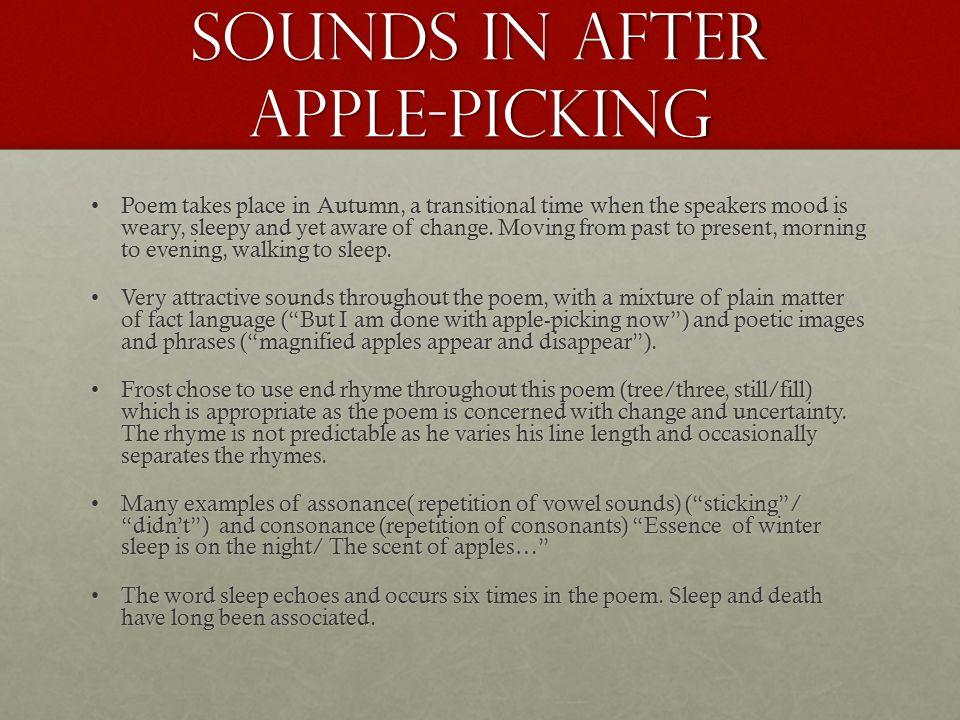 robert frost after apple picking symbolism