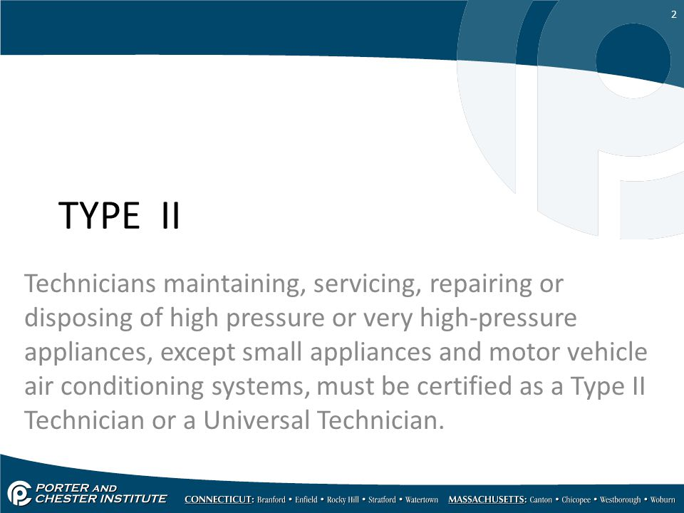 Air Conditioning Epa Type Ii Ppt Video Online Download