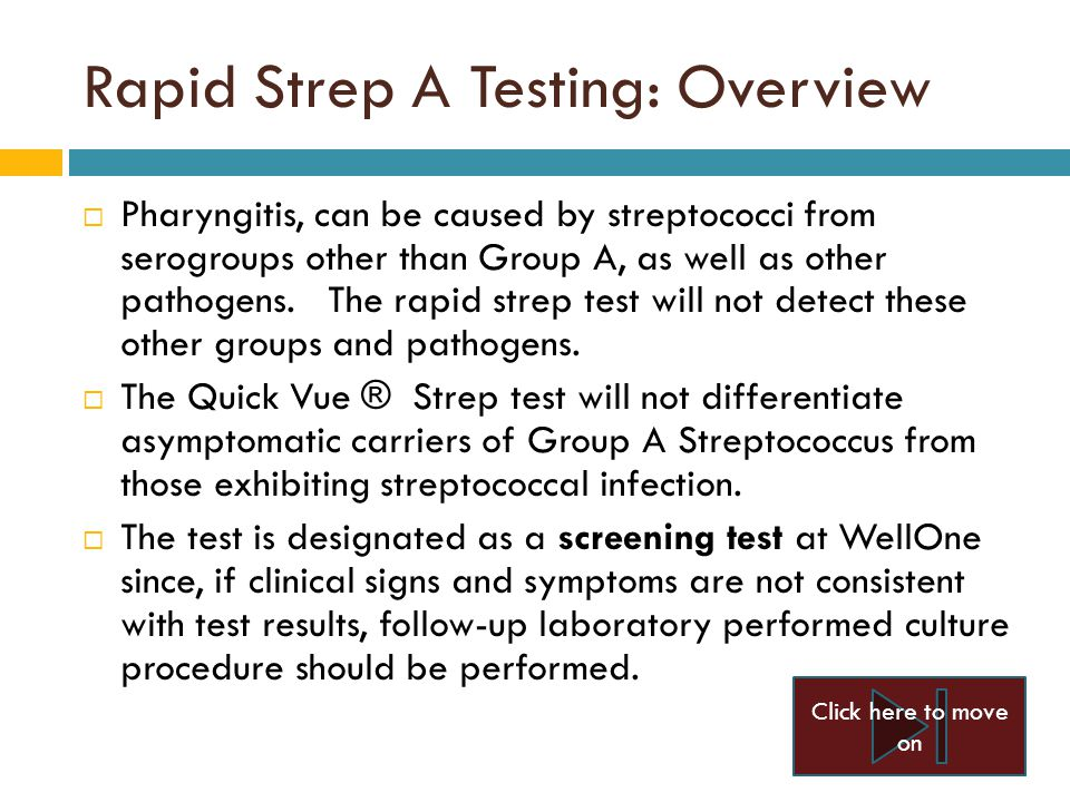 Quickvue In Line Rapid Strep A Testing Ppt Video Online Download