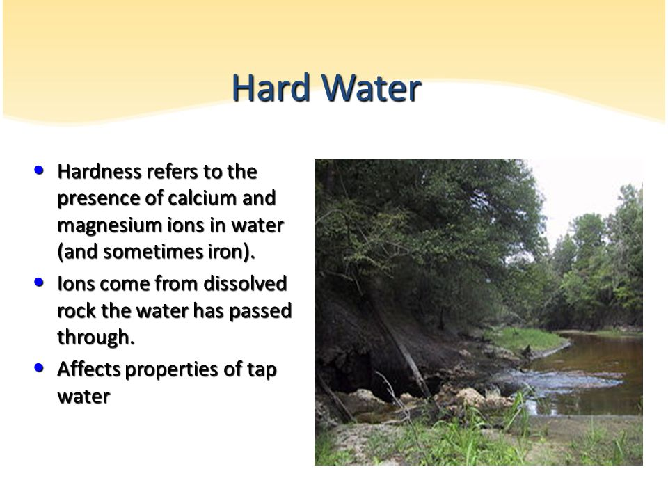 properties of hard and soft water