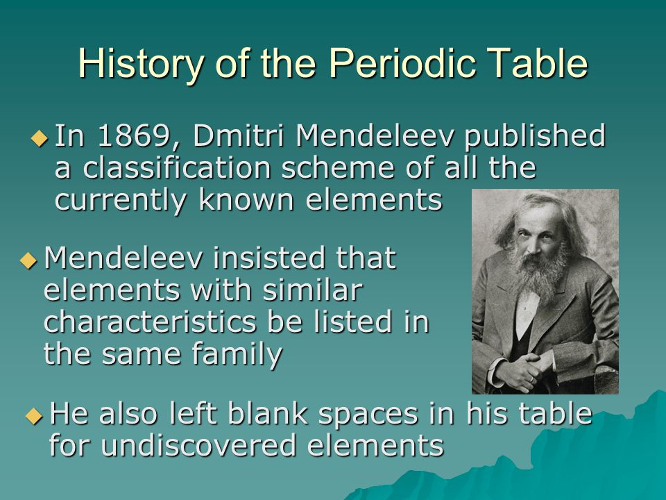 Chapter 6 the periodic table ppt video online download history of the periodic table urtaz