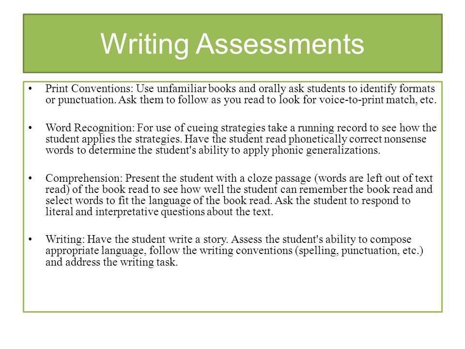 informal assessment This paper focuses on an unceremonious type of formative assessment – informal formative assessment – in which much of what teachers and students do in the classroom can be described as potential assessments that can provide evidence about the students' level of understanding more specifically, the paper focuses on assessment conversations, or dialogic interactions or exchanges, which.