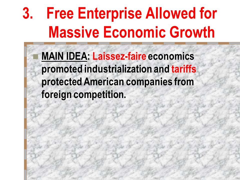 what the main idea of laissez faire