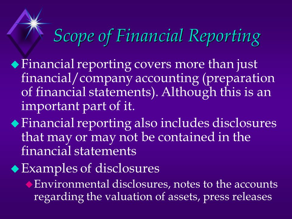 importance and scope of financial accounting