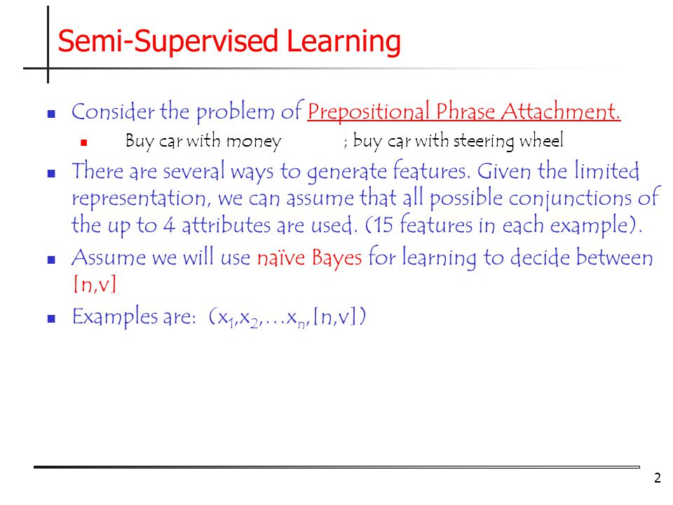 Semi-Supervised Learning - ppt video online download