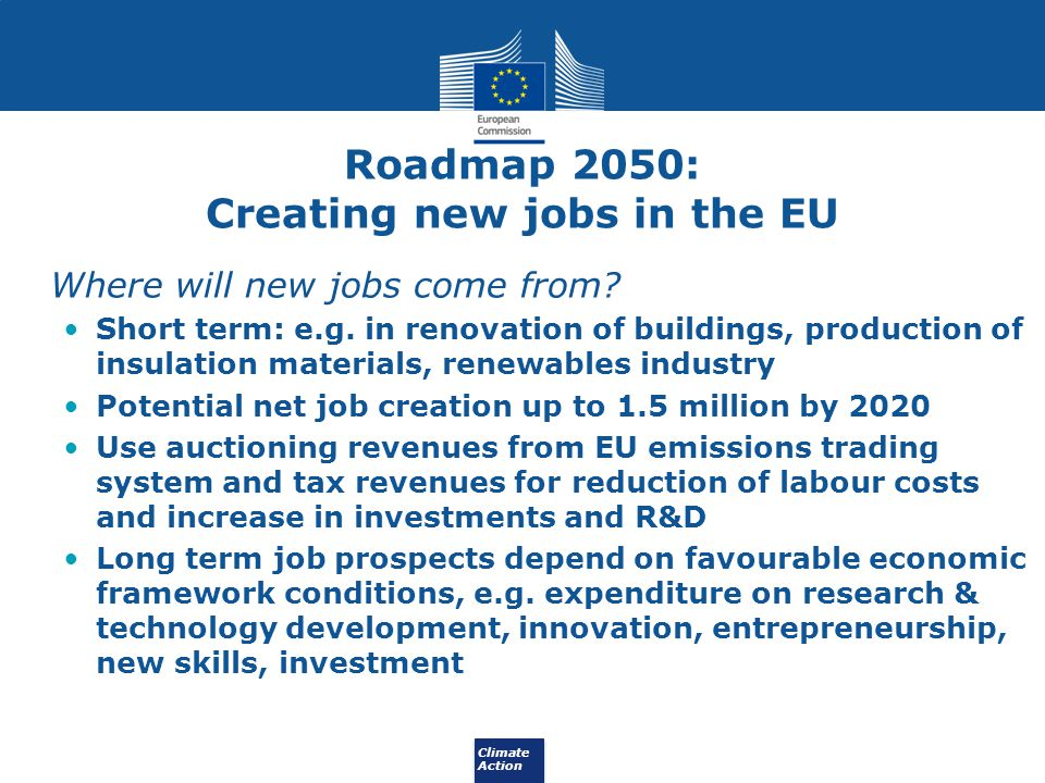 Creating new jobs in the EU