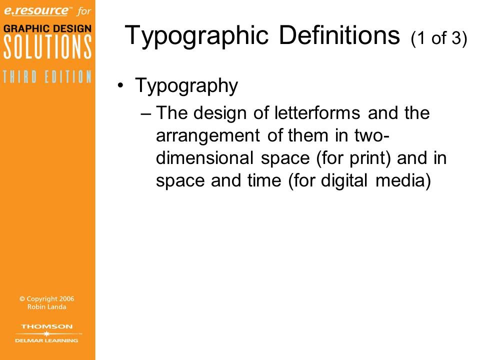 Typographic Definitions (1 of 3)