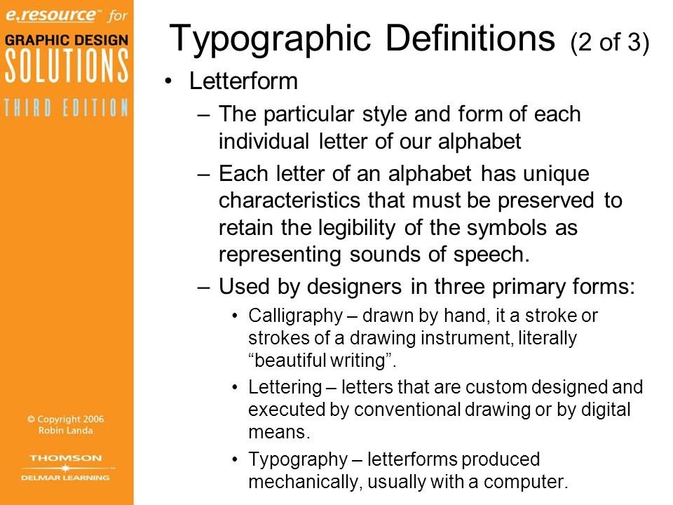 Typographic Definitions (2 of 3)