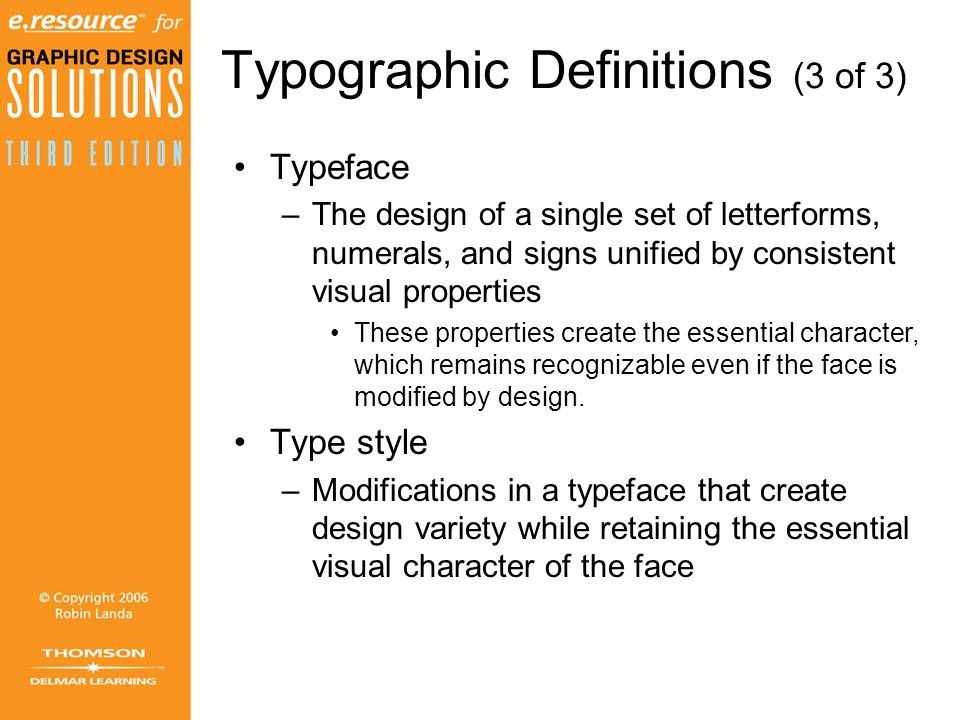 Typographic Definitions (3 of 3)
