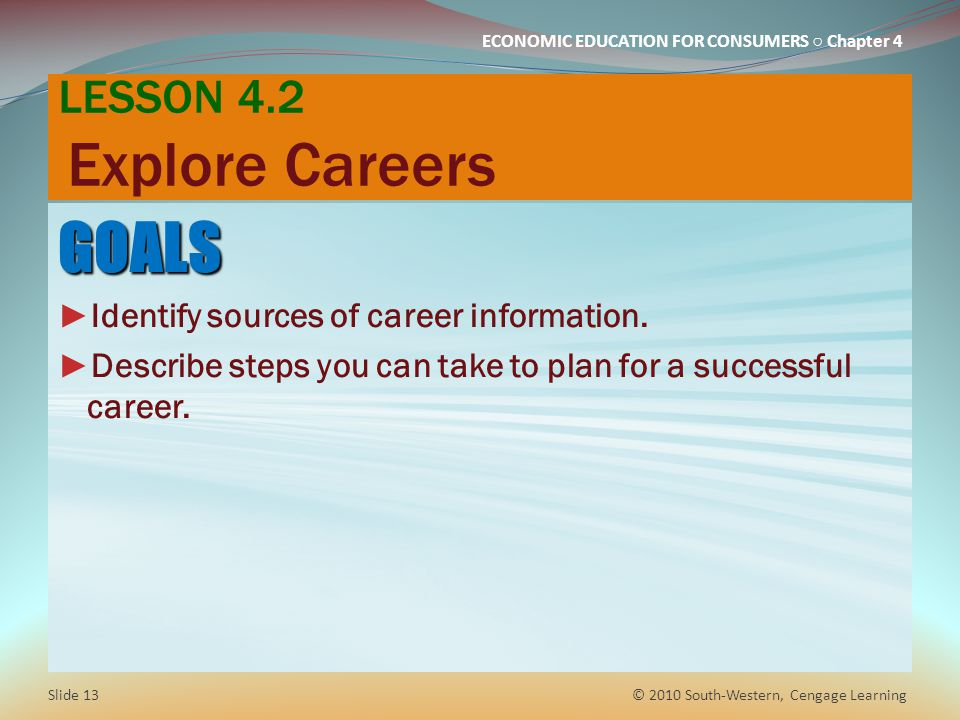 LESSON 4.2 Explore Careers