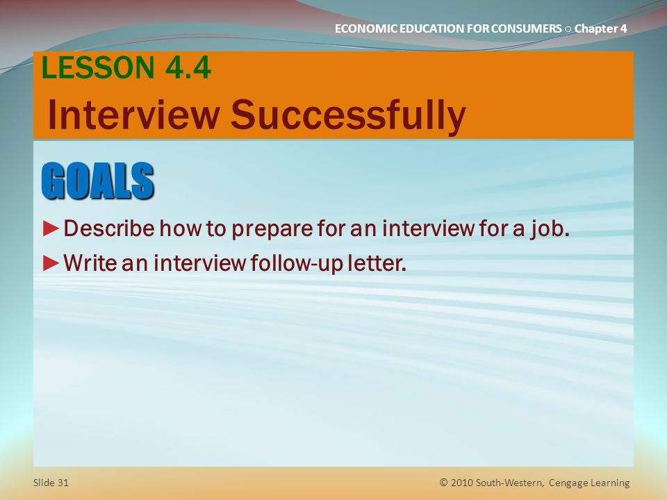 LESSON 4.4 Interview Successfully
