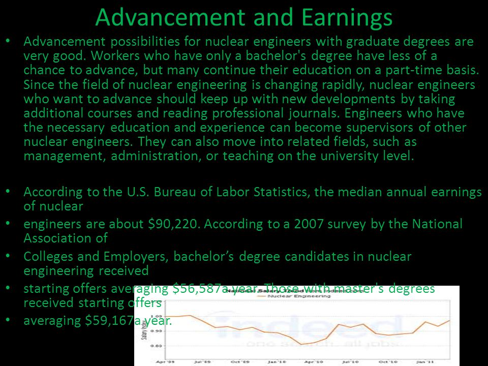 Advancement and Earnings