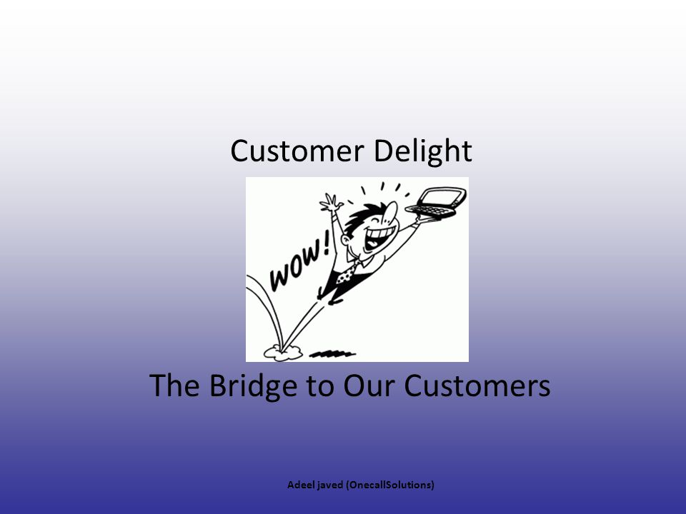 The Bridge to Our Customers