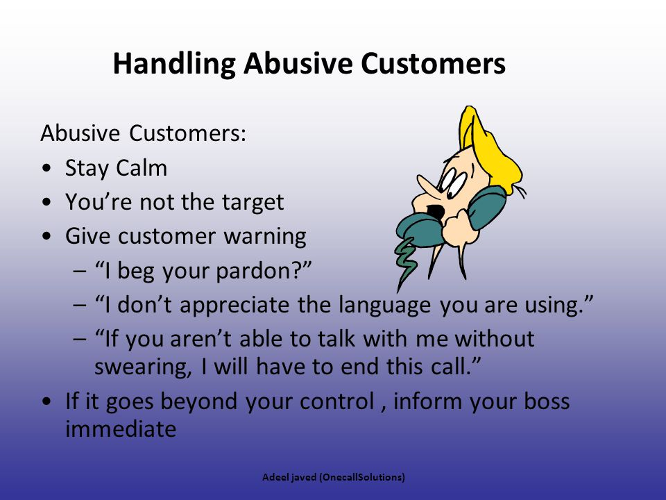 Handling Abusive Customers