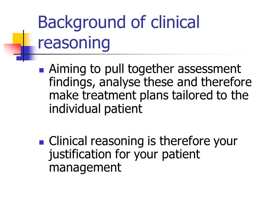 how to make a clinical treatment plan