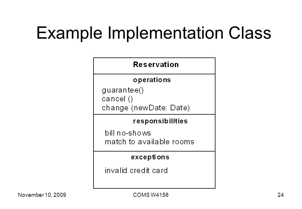 Example Implementation Class