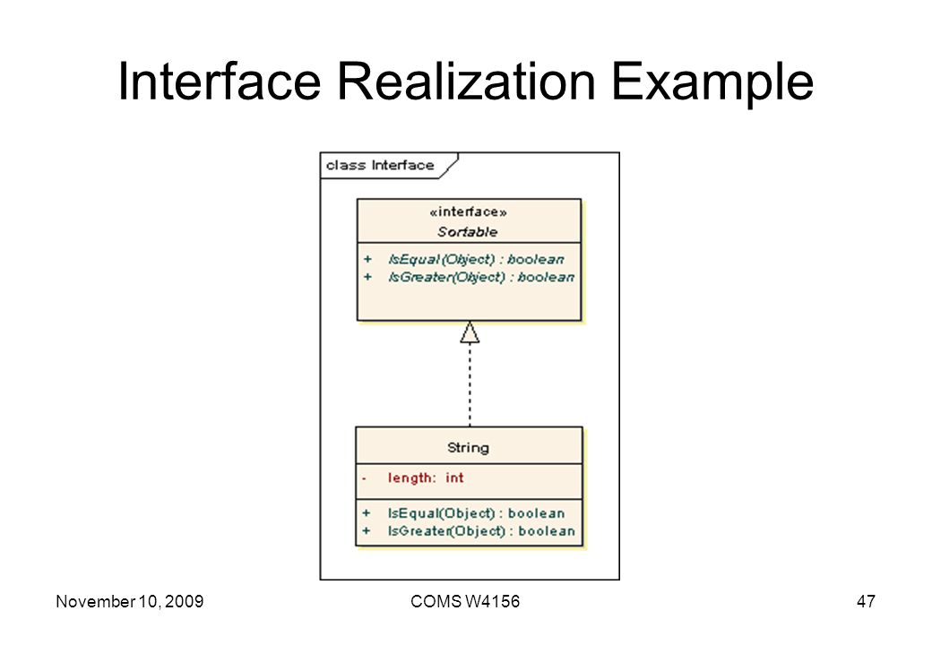 Interface Realization Example