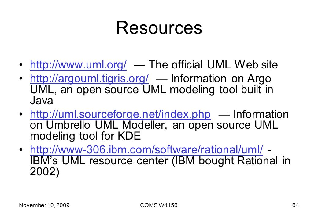 Resources   — The official UML Web site
