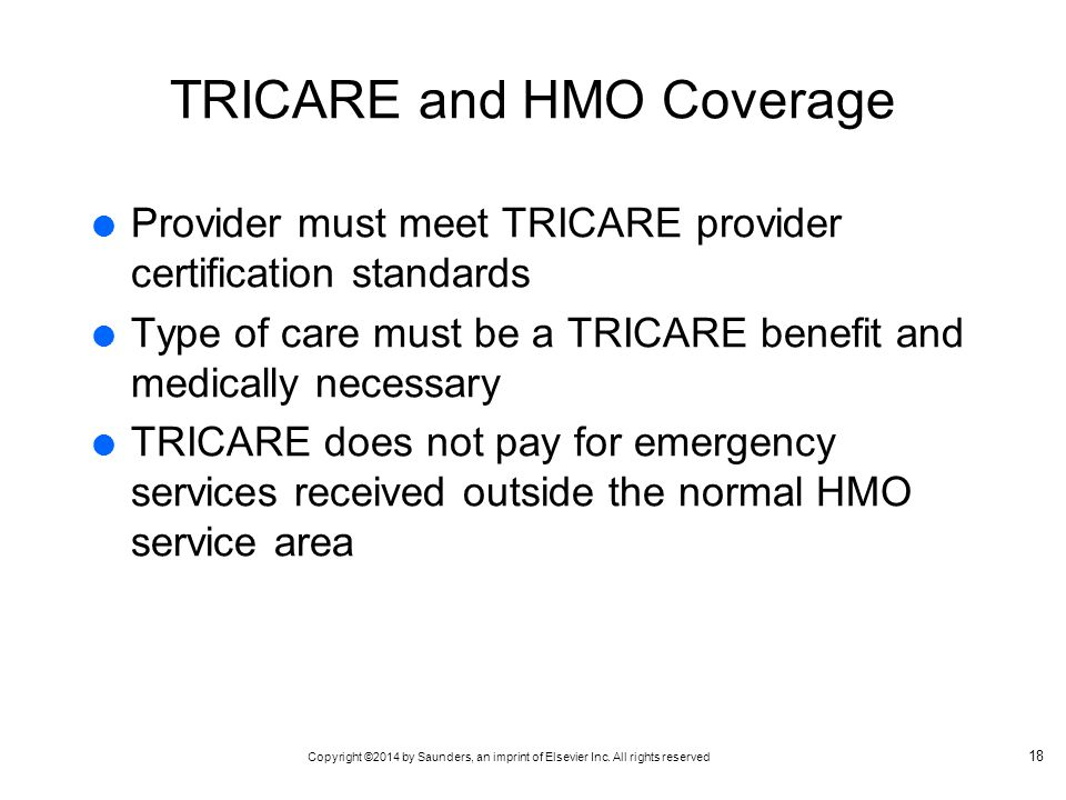 TRICARE and HMO Coverage