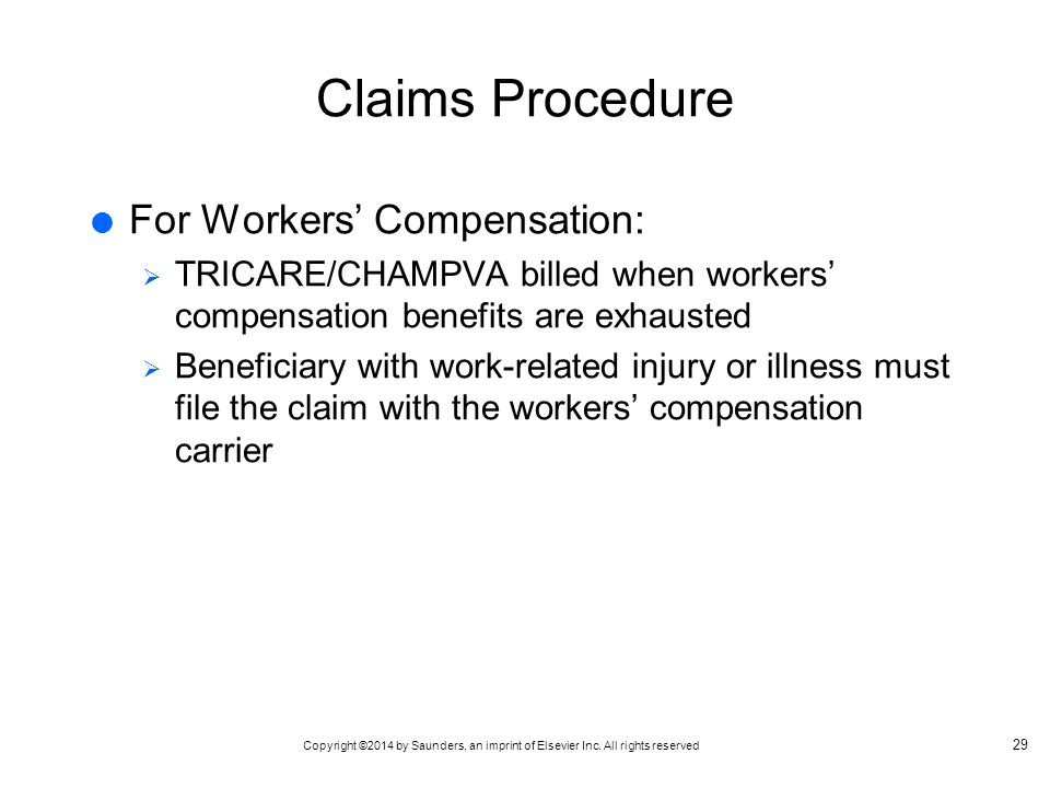Claims Procedure For Workers' Compensation: