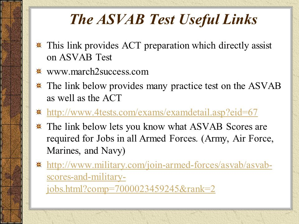 Study asvab test marines