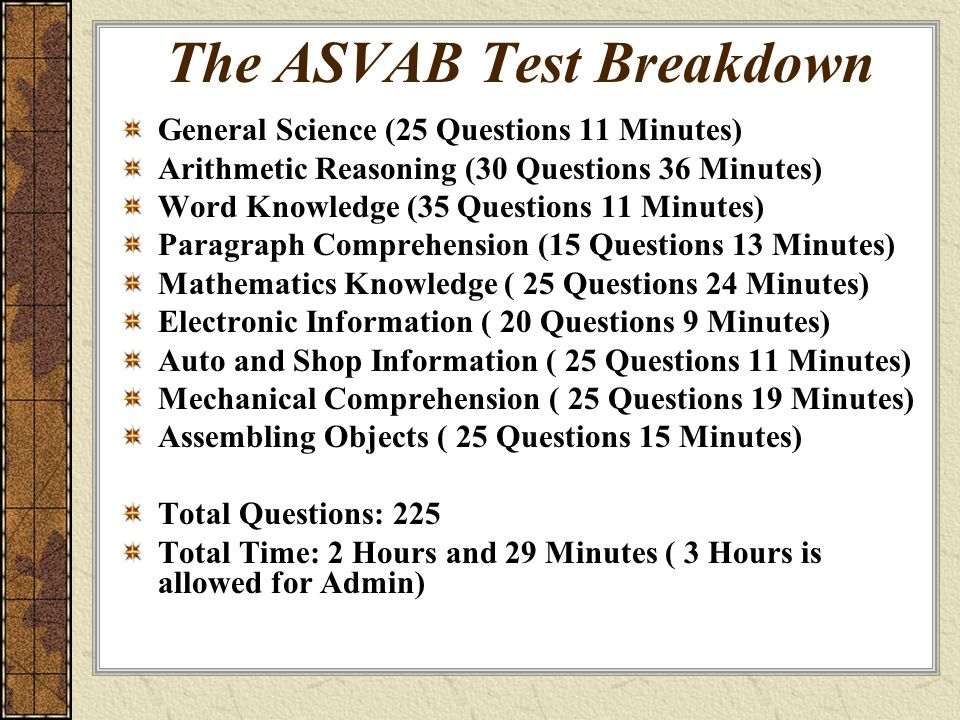 The Asvab Armed Services Vocational Aptitude Battery Ppt Video