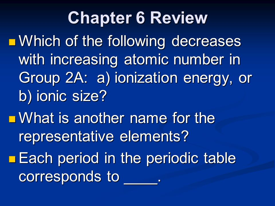 Chapter 6 review the periodic table ppt video online download 14 chapter urtaz Choice Image