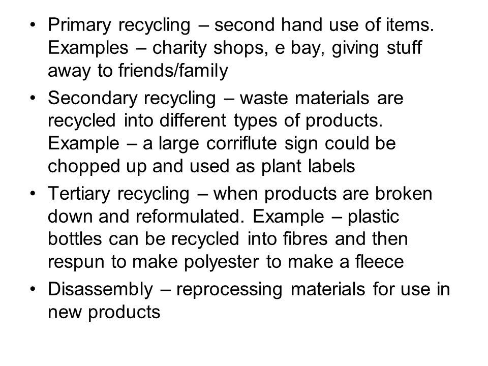 Recycling – the new conversion of waste products into new
