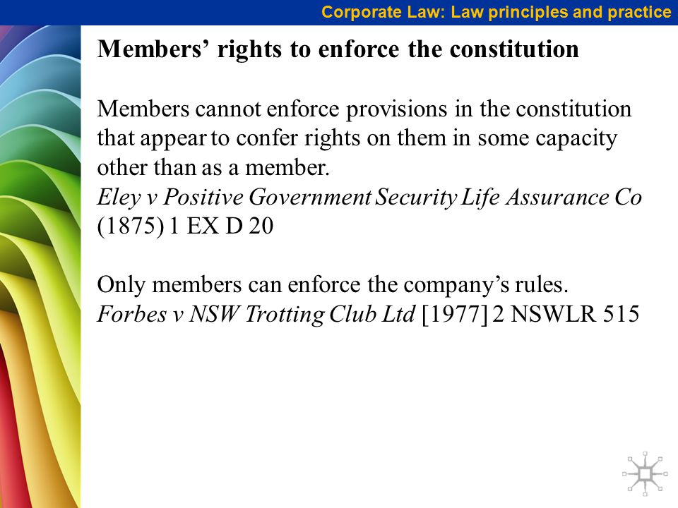 eley v positive government security life assurance