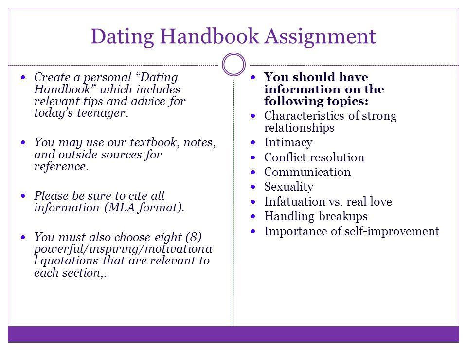 Dating handbook the rules
