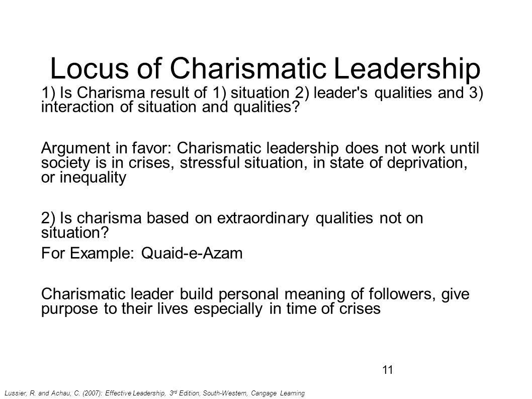 what is charismatic leadership style