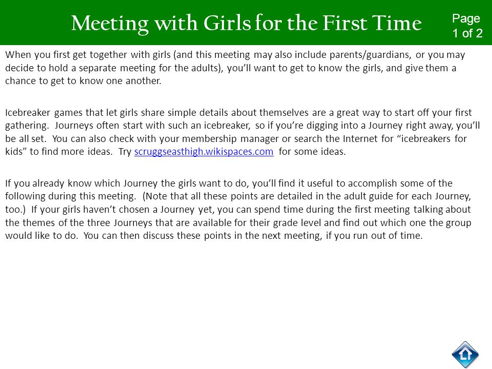 first time meeting a girl